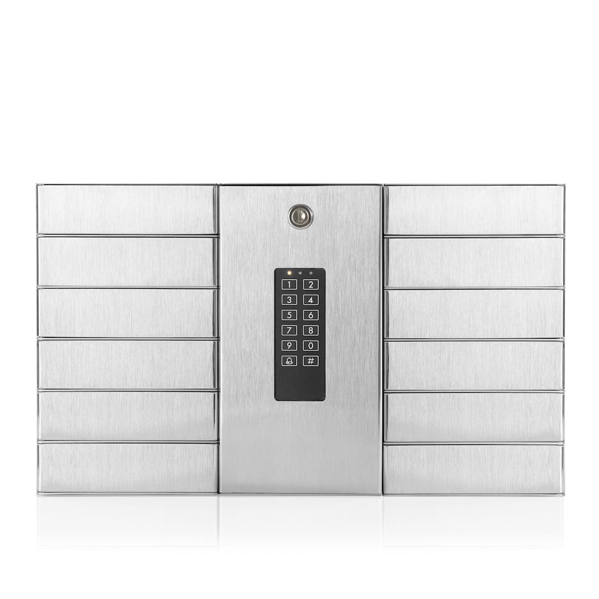 RVS 316 sleuteluitgifte systeem met 12 vakken